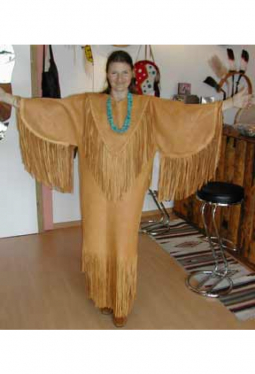 Lederkleid/Zeremonialkleid aus Wapiti-Hirsch-Leder
